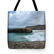 Large Rock Formation In Aruba's Boca Keto Beach Tote Bag