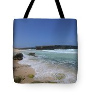 Large Rock Formation On The Beach At Boca Keto Tote Bag