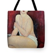 Large Seated Nude Tote Bag by Amedeo Modigliani