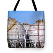 Large Spherical Sotrage Tanks Tote Bag