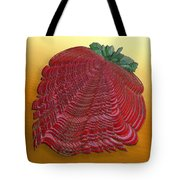 Large Strawberry Scallop Tote Bag