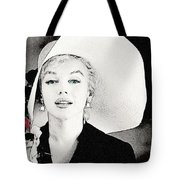 34750cd26e8a Large White Hat -marilyn Monroe - Sketch Drawing by Ericamaxine Price