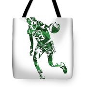 Larry Bird Boston Celtics Pixel Art 10 Tote Bag