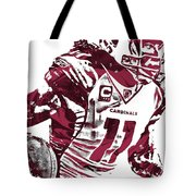 Larry Fitzgerald Arizona Cardinals Pixel Art 1 Tote Bag