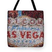 Las Vegas Sign Poker Chip Mosaic Tote Bag