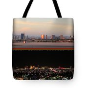 Las Vegas Skyline At Dawn And At Night Tote Bag