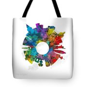 Las Vegas Small World Cityscape Skyline Abstract Tote Bag