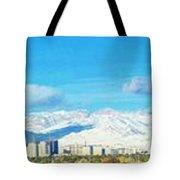 Las Vegas Strip And Mt Charleston Tote Bag