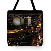 Las Vegas Strip Tote Bag by Kristin Elmquist