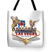 Las Vegas Symbolic Sign On White Tote Bag