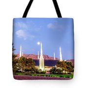 Las Vegas Temple Moon Tote Bag