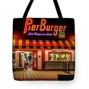 Last Burger On Land Tote Bag
