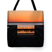 Last Glow Over The Water Tote Bag
