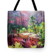 Last Light In Zion Tote Bag