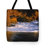 Last Light On Harris Beach Tote Bag