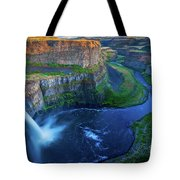 Last Light On Palouse Falls Tote Bag