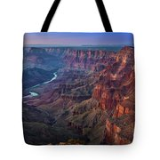 Last Light On The Canyon Tote Bag