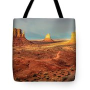Last Light Over Monument Valley Tote Bag