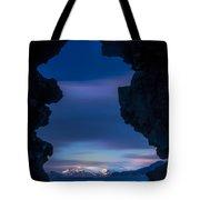 Last Light Through Lava Tote Bag