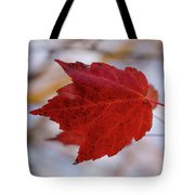 Last Of The Leaves Nature Photograph Tote Bag