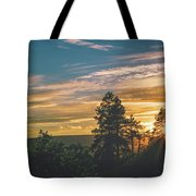 Last Rays Of Sunday Tote Bag