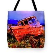 Last Red Boat Tote Bag