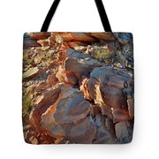 Last Sunlight On Jagged Sandstone In Valley Of Fire Tote Bag