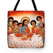 Last Supper Angels Tote Bag