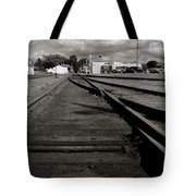 Last Train Track Out Tote Bag