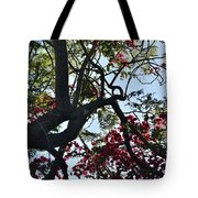Late Afternoon Tree Silhouette With Bougainvilleas I Tote Bag