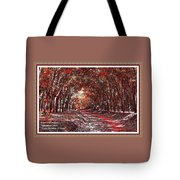 Late Autumn Avenue H A With Decorative Ornate Printed Frame. Tote Bag