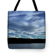 Late Day Clouds Over Mountainss Tote Bag