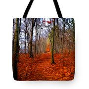 Late Fall In The Woods Tote Bag