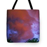 Late Night Nebraska Shelf Cloud 011 Tote Bag