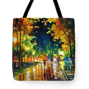Late Night - Palette Knife Oil Painting On Canvas By Leonid Afremov Tote Bag