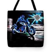Late Night Street Racing Tote Bag