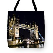 Late Night Tower Bridge Tote Bag by Elena Elisseeva