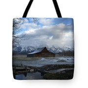 Late Snow On South Moulton Barn Tote Bag