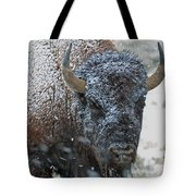 Early Spring Late Snow Buffalo Tote Bag