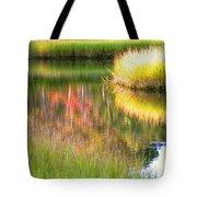Stillness Of Late Summer Marsh  Tote Bag
