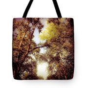 Late Summer View Of Sky And Trees Tote Bag