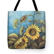 Late Sunflowers  Tote Bag