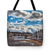 Late Winter At The Tobie Trail Bridge Tote Bag