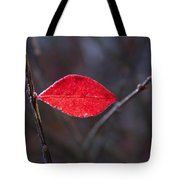 Lateral Red Leaf Tote Bag