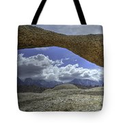 Lathe Arch Between Storms Tote Bag