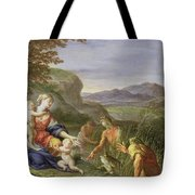 Latona And The Frogs Tote Bag