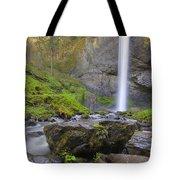 Latourell Falls Sunset Tote Bag
