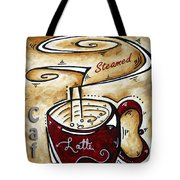 Latte By Madart Tote Bag by Megan Duncanson