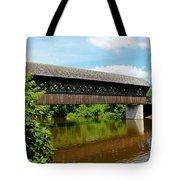 Lattice Covered Bridge Tote Bag