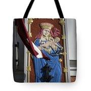 Latvia, Riga, Virgin Mary And Jesus Tote Bag